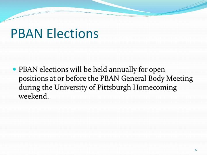 PBAN Elections