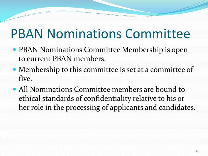 PBAN Nominations Committee