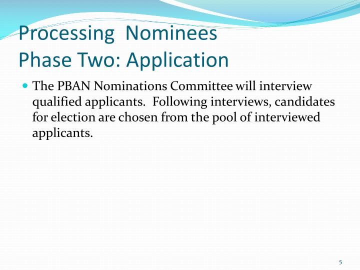 Processing  Nominees