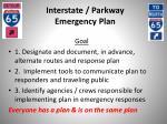 interstate parkway emergency plan