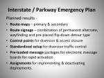 interstate parkway emergency plan1