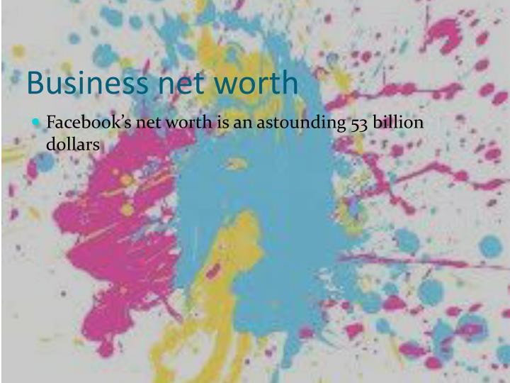 Business net worth