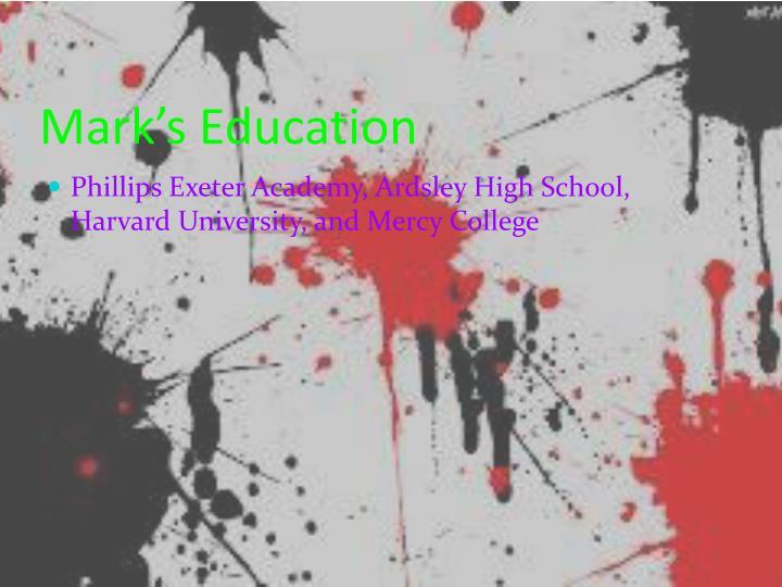 Mark's Education