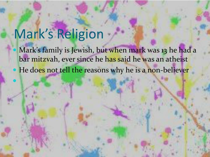 Mark's Religion