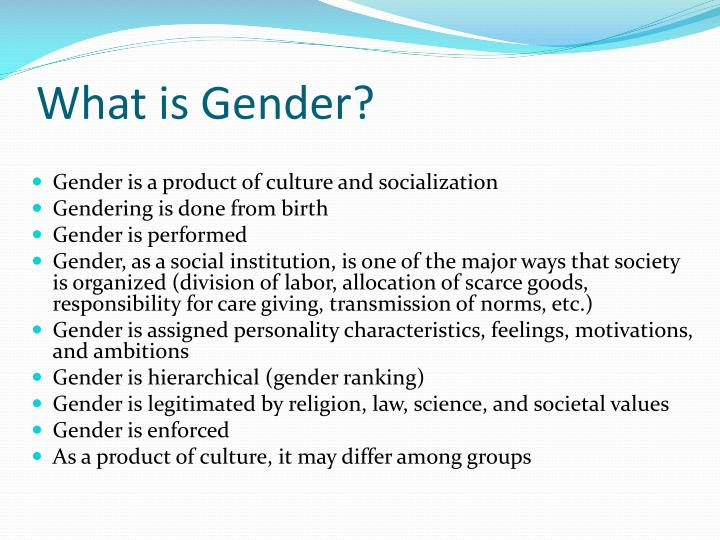 What is Gender?