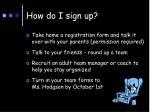 how do i sign up