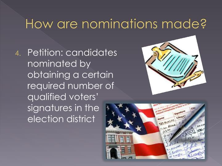 How are nominations made?