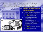 how does the electoral college affect presidential elections
