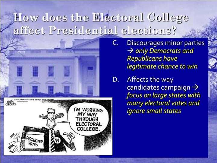 How does the Electoral College affect Presidential elections?