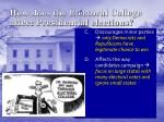 how does the electoral college affect presidential elections1
