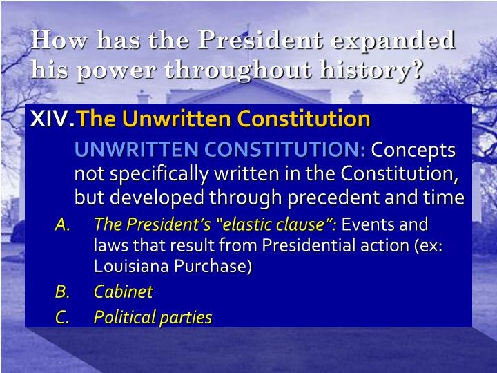 How has the President expanded his power throughout history?