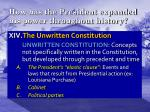 how has the president expanded his power throughout history