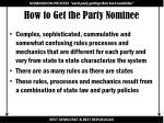 how to get the party nominee