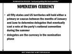 nomination currency
