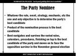 the party nominee