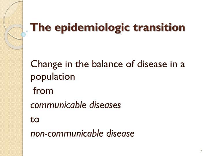 The epidemiologic transition