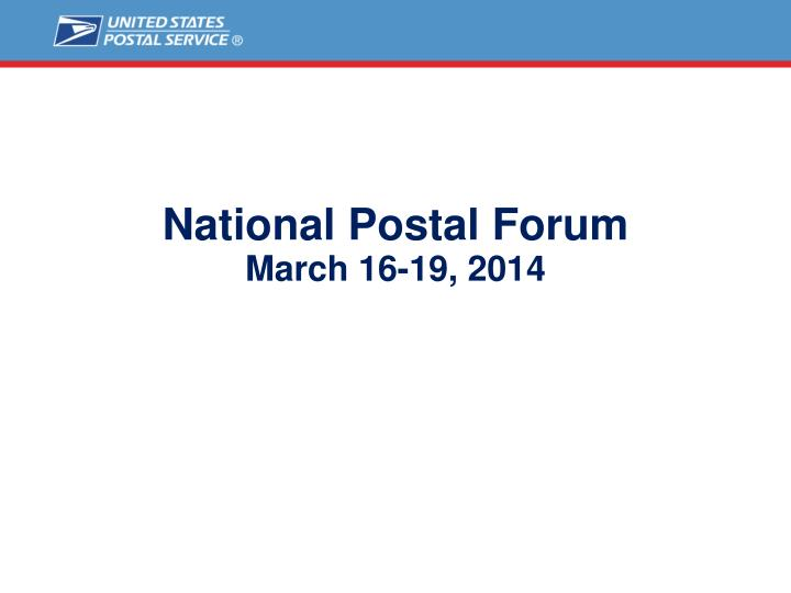 National p ostal forum