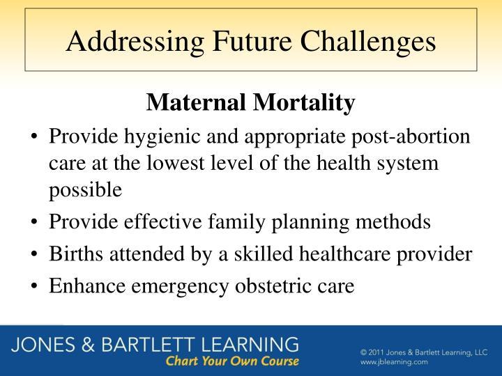 Addressing Future Challenges