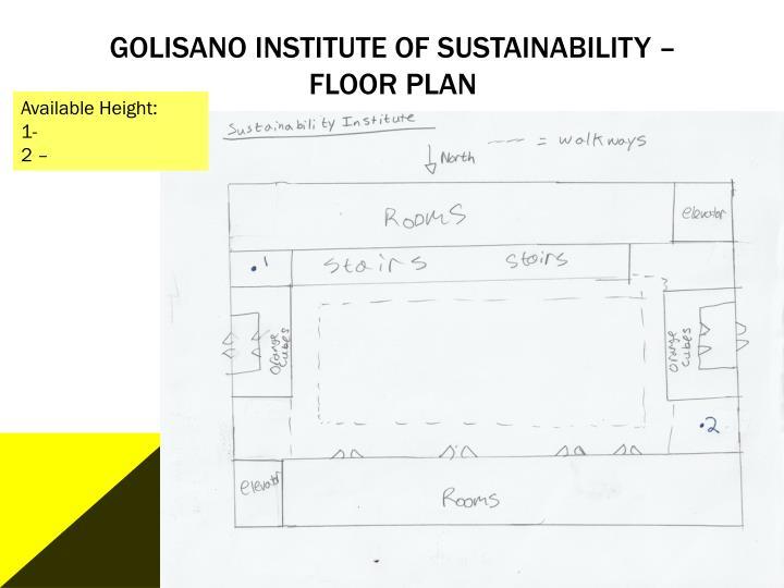 Golisano Institute of Sustainability – Floor plan