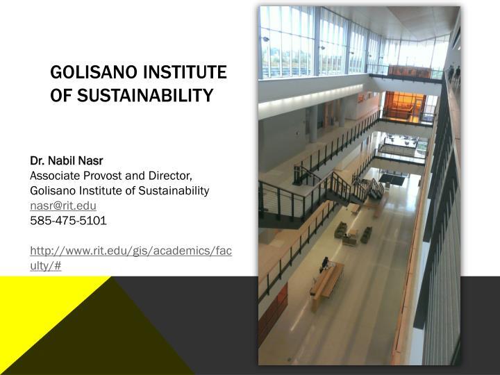 Golisano Institute of Sustainability