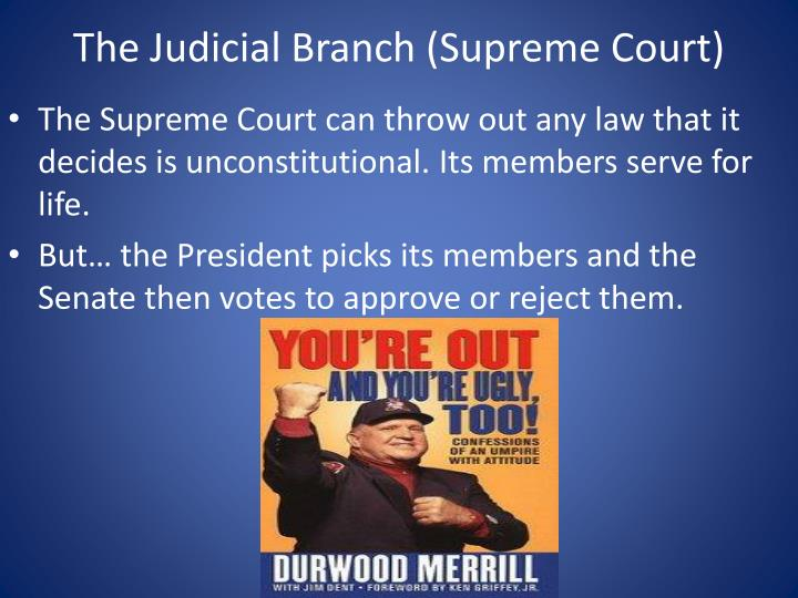 The Judicial Branch (Supreme Court)