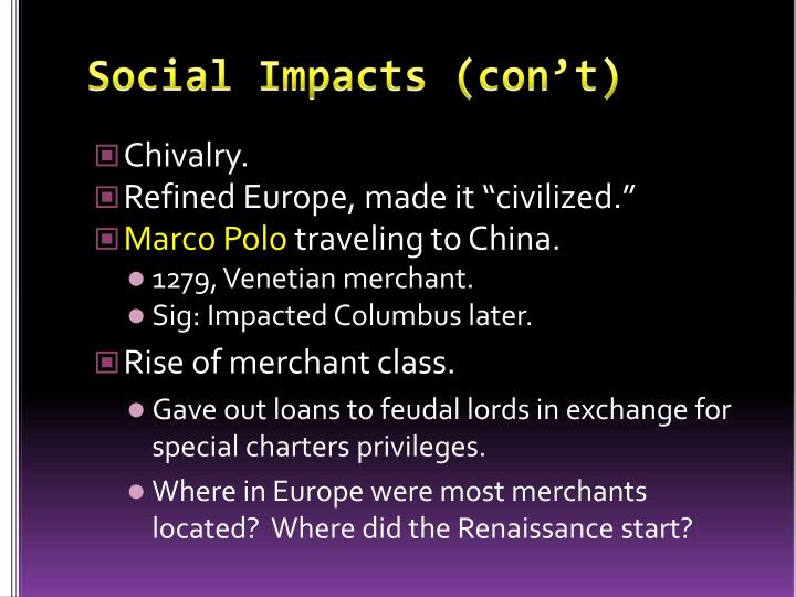 Social Impacts (