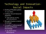 technology and innovation social impacts