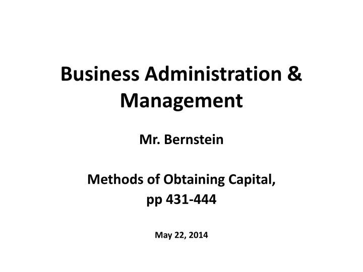 business administration management