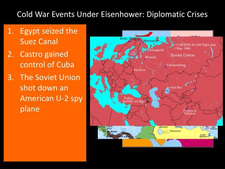 Cold War Events Under Eisenhower: Diplomatic Crises