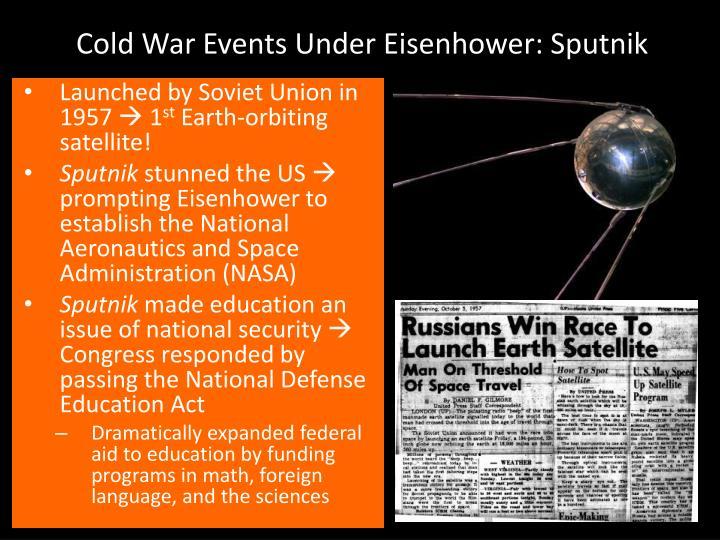 Cold War Events Under Eisenhower: Sputnik