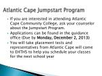 atlantic cape jumpstart program