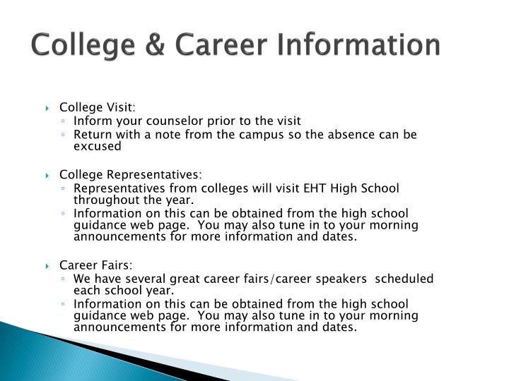 College & Career Information