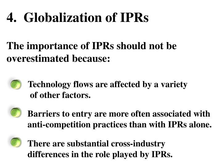 4.  Globalization of IPRs