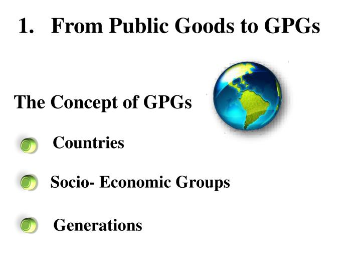 1.   From Public Goods to GPGs