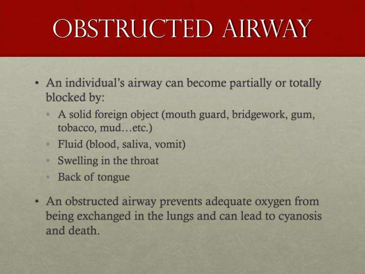 Obstructed Airway