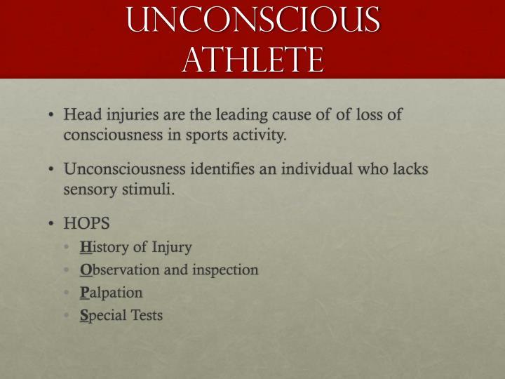 Unconscious Athlete