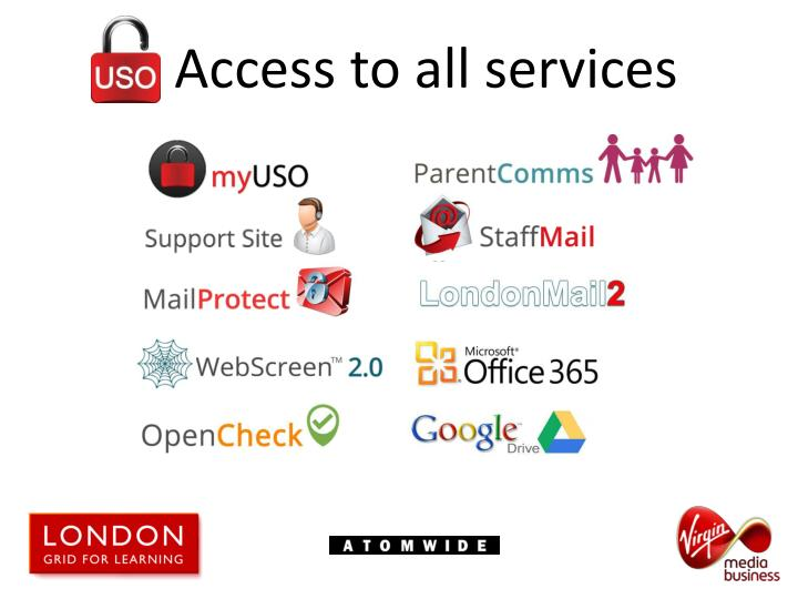 Access to all services