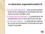 la dimension organisationnelle 1 3