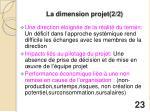 la dimension projet 2 2