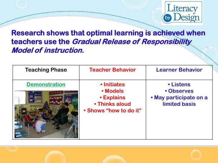 Research shows that optimal learning is achieved when teachers use the