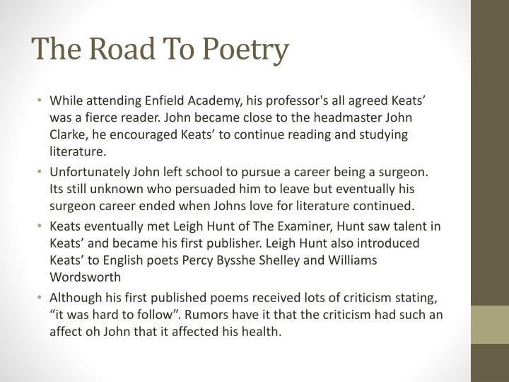 The road to poetry