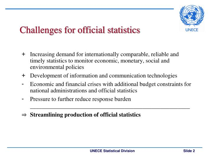 Challenges for official statistics