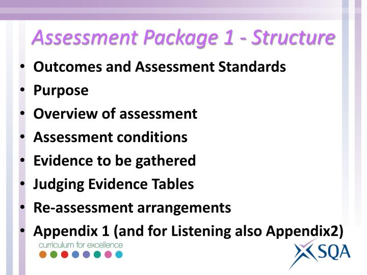 Assessment Package 1 - Structure