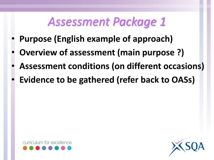 Assessment Package 1
