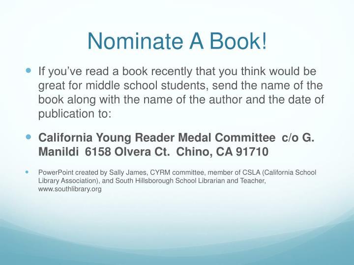Nominate A Book!