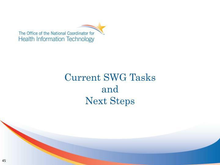 Current SWG Tasks