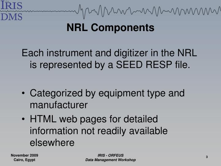 NRL Components