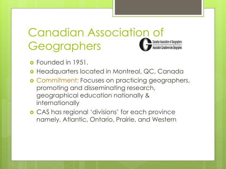 Canadian Association of Geographers