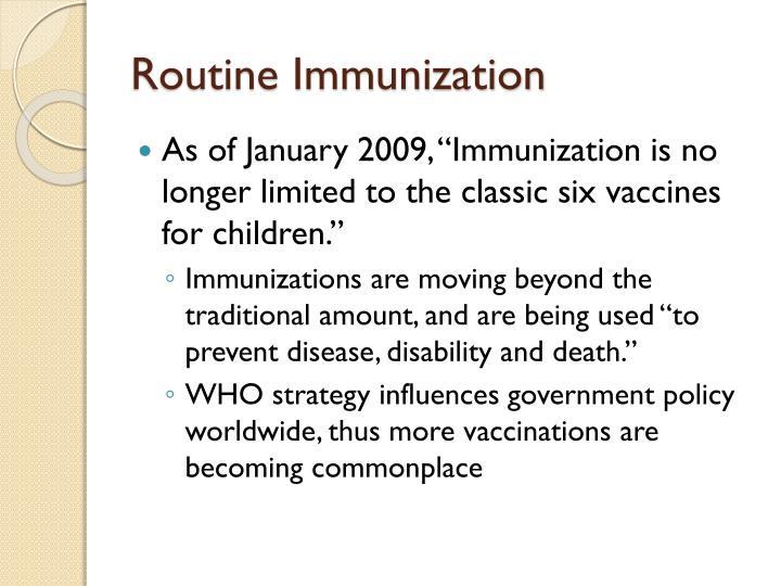 Routine Immunization