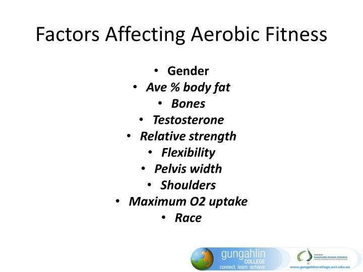 Factors Affecting Aerobic Fitness